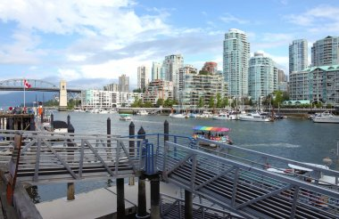 Ferries terminal in Granville island Vancouver BC.