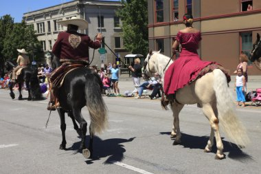 PORTLAND - JUNE 12: Rose Festival annual parade through downtown June 12, 2