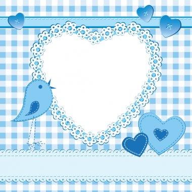 Heart shape frame in a scrapbook style