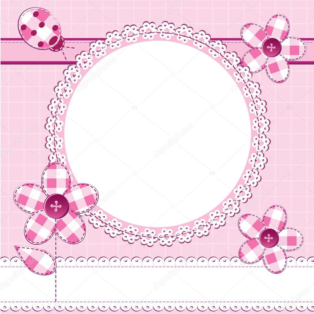 Photo Frame In A Scrapbook Style Stock Vector Toranoko 7109404