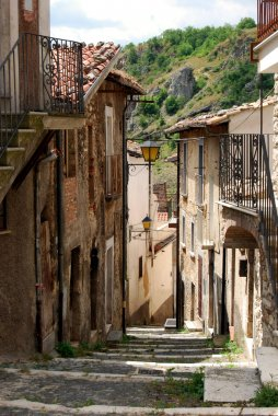 Road to the steps of Assergi - Abruzzo - Italy