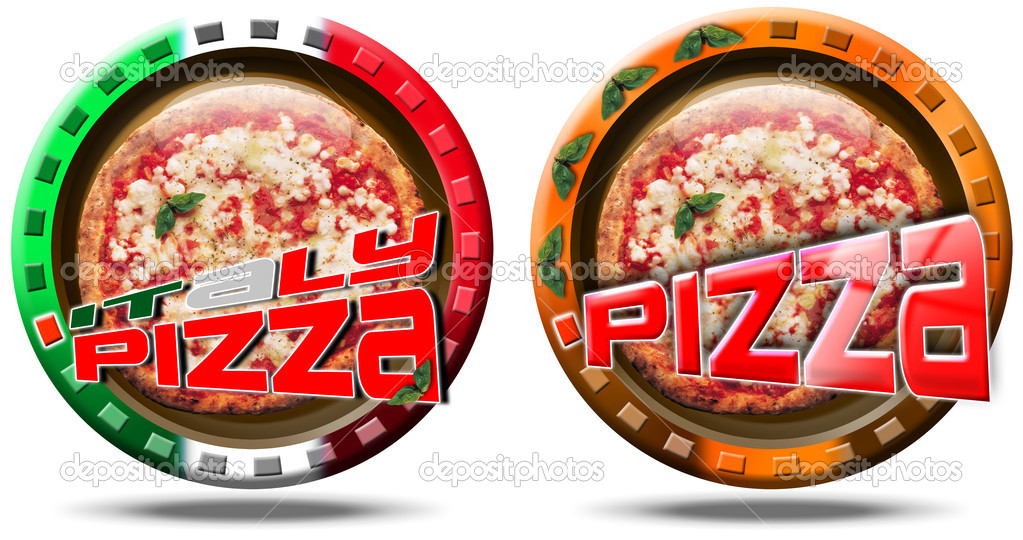 Icons pizza made in italy