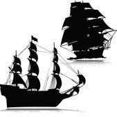 Altes Boot Silhouetten