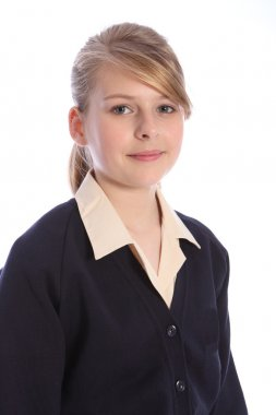 Secondary school portrait blonde teenage girl