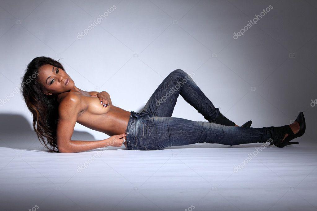 Lesbische zwarte orgie