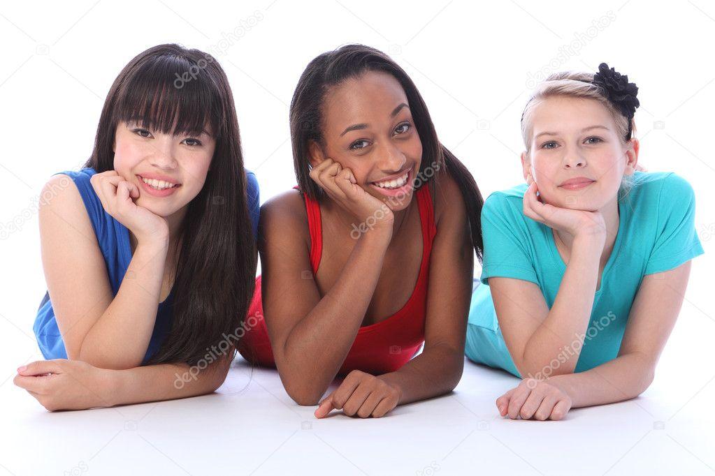 asian Black girls white