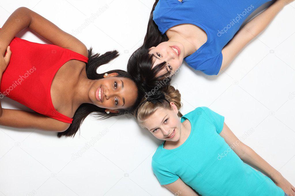 zwart meisje vrienden