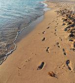 Fotografia impronte nella sabbia