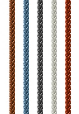 Leather seamless braided plait