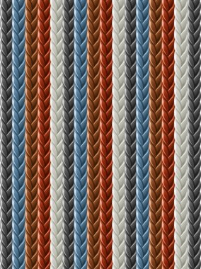 Leather seamless braided plait texture
