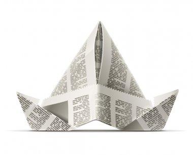 Paper cap as origami handicraft