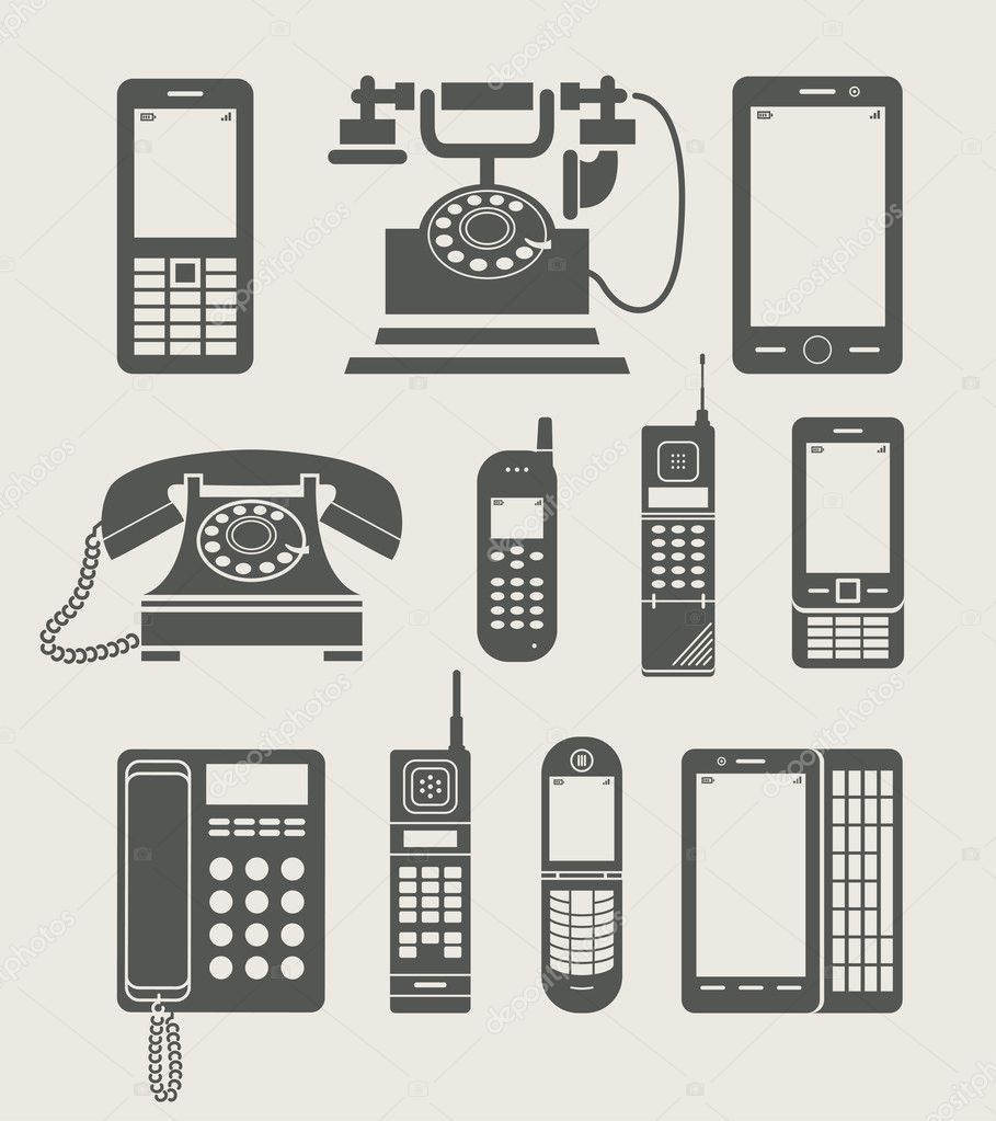 Phone set simple icon