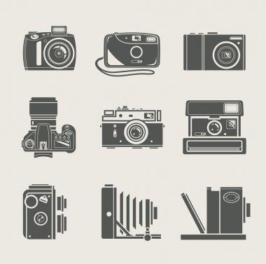 Camera new and retro icon