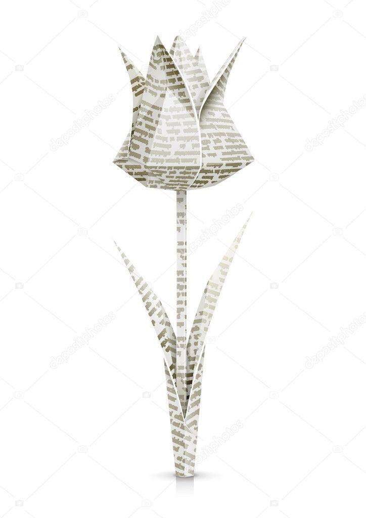 Fleur De Tulipe Papier Origami Image Vectorielle Aleksangel C 9828099