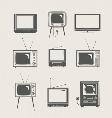 Tv set icon new and vintage vector illustration stock vector