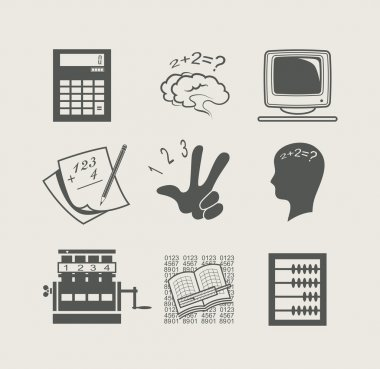 Devices for calculation set icon