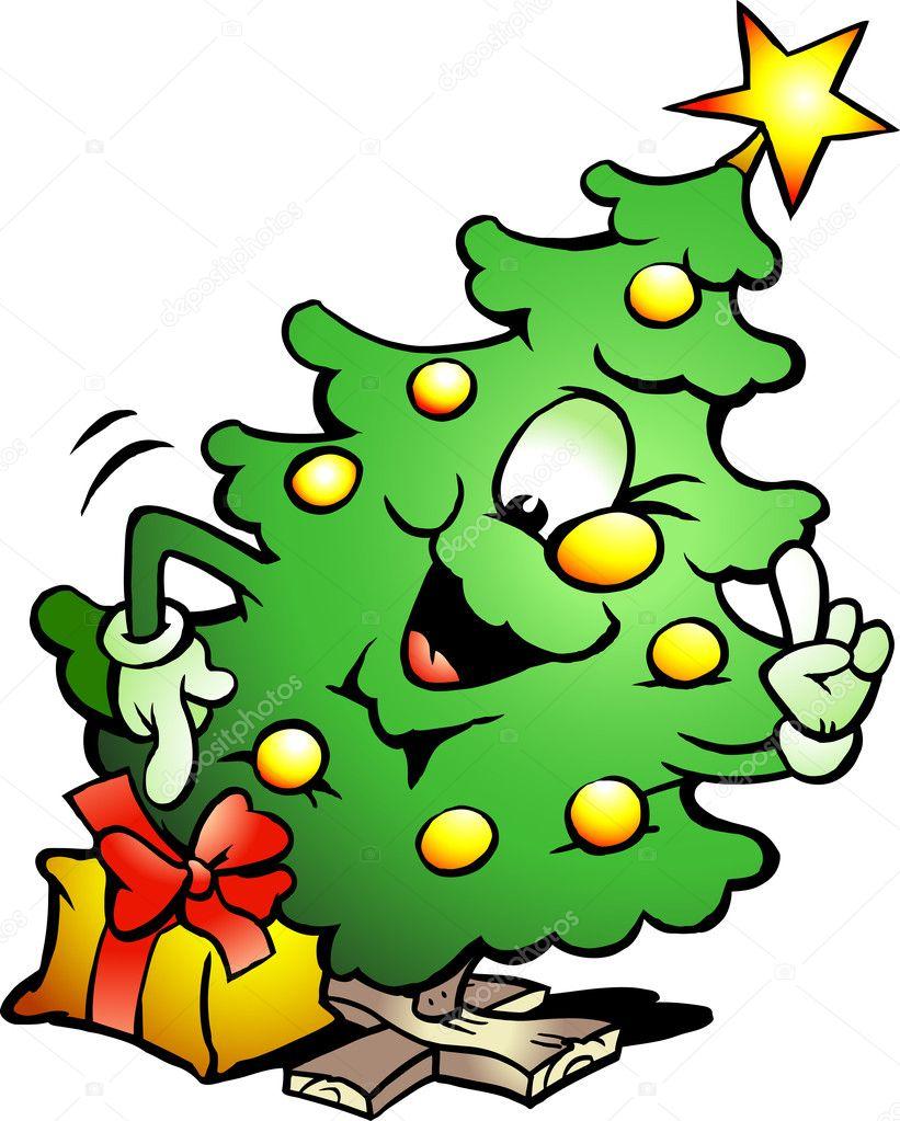 Смешные рисунки елка, картинки