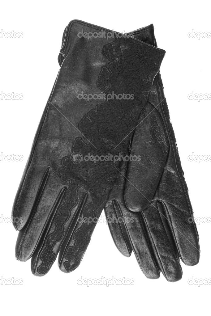 γυναίκες μαύρο δερμάτινα γάντια — Φωτογραφία Αρχείου © alekleks  7729576 9d64062a71d
