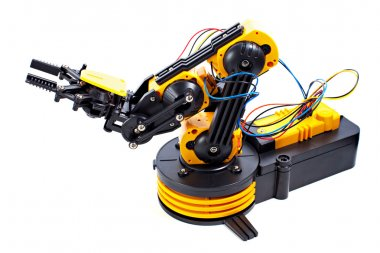 Black and Yellow Robotic Arm