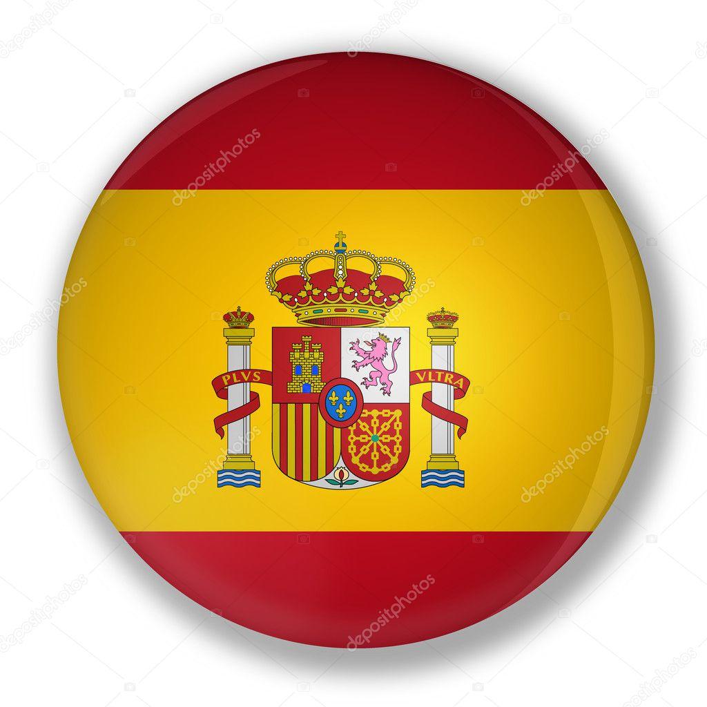 Un insigne avec drapeau d 39 espagne photographie marphotography 6939747 - Drapeau d espagne a colorier ...