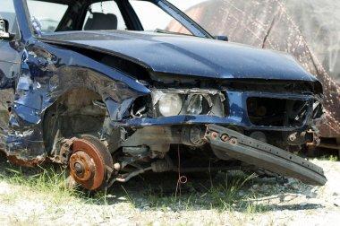 Broken car for scrap