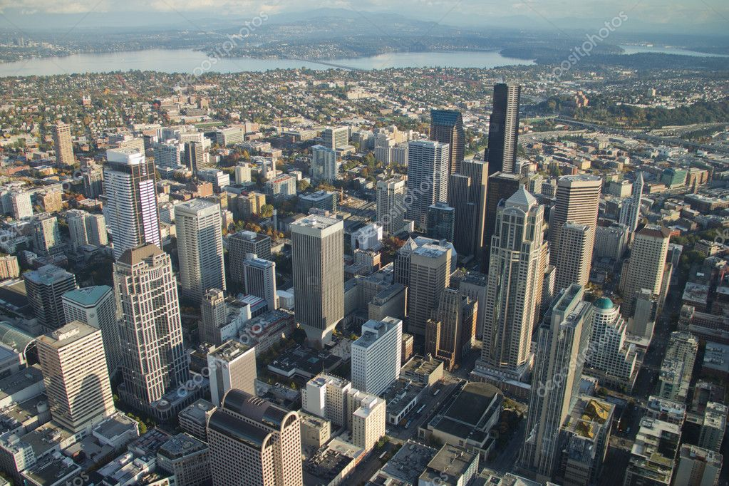 Downtown seattle aerial stock photo stepheng101 7364023 for 7 salon downtown seattle