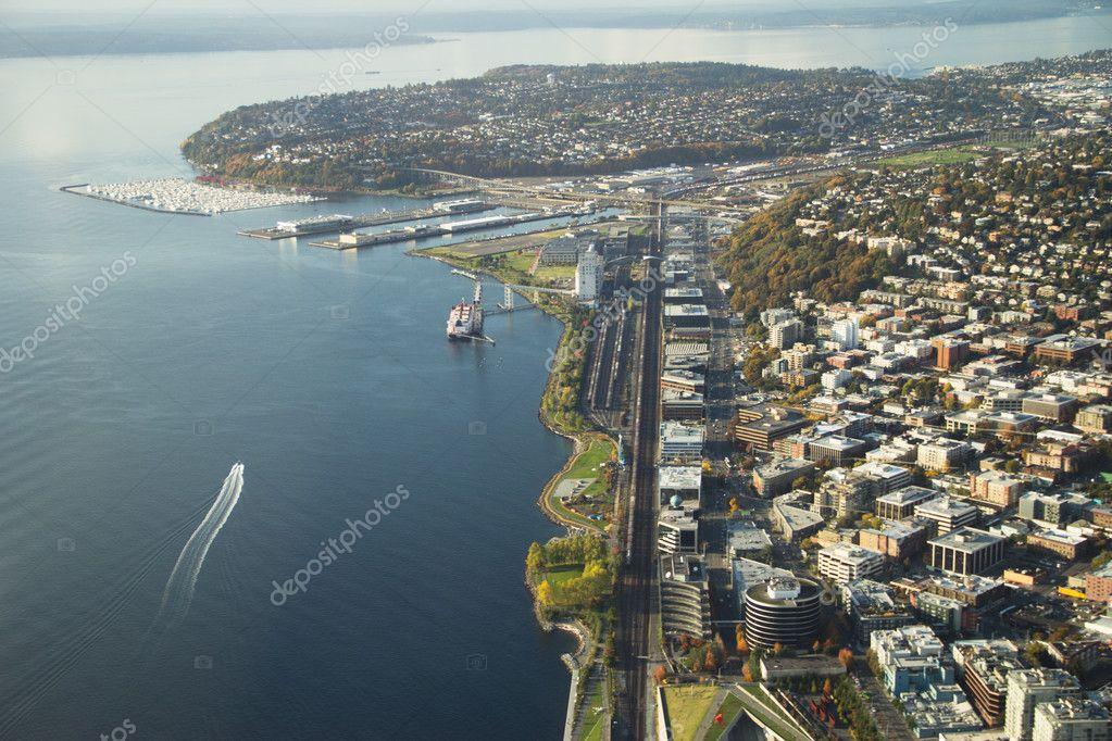 Queen Anne and Elliott Bay - Aerial