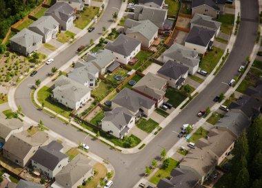 Suburban Street Corner - Aerial