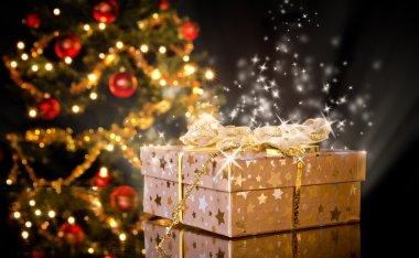 Christmas gift still life stock vector