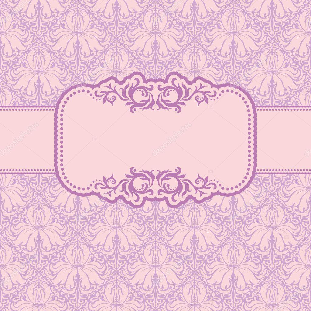 diseño de marco de plantillas para tarjetas de felicitación — Vector ...