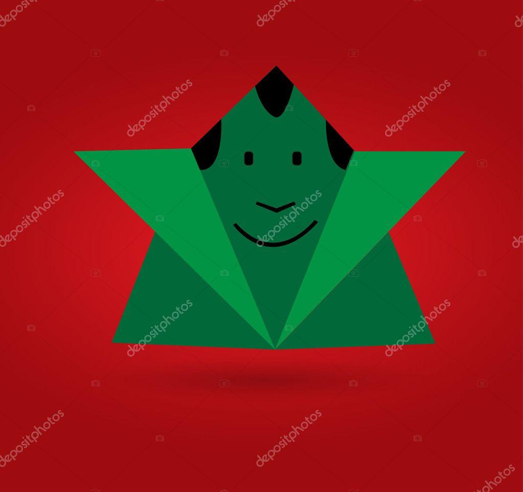 Vector Origami Man Stock