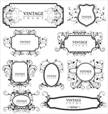 Empty vintage labels stock vector