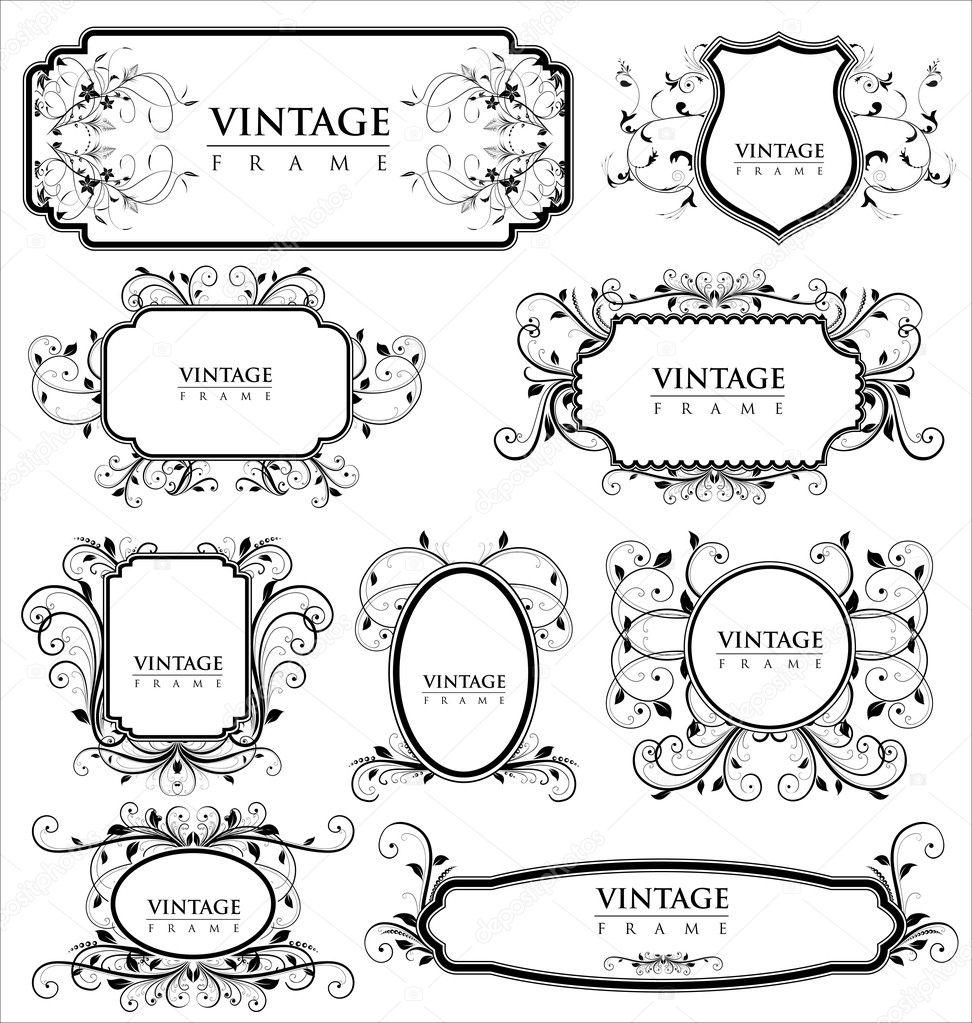 Empty vintage labels