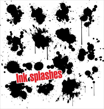 Ink splashes - grunge