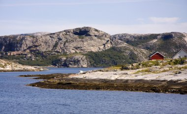 Norwegian island and fjord scenery