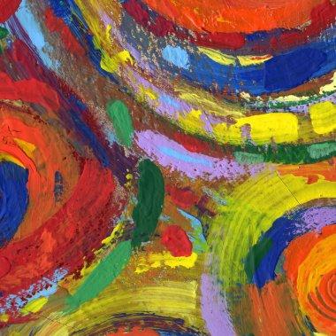 "Картина, постер, плакат, фотообои ""Живопись абстрактная текстура фон"", артикул 7340417"