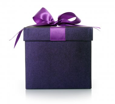 Violet box close-up on white stock vector