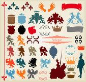 Fotografie Heraldic elements vector