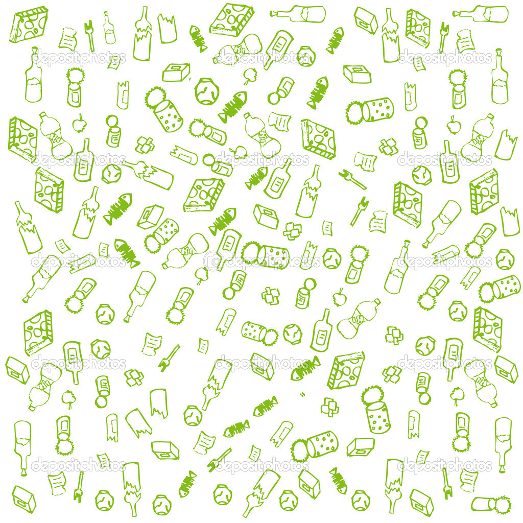 Recycle garbage concept vector background