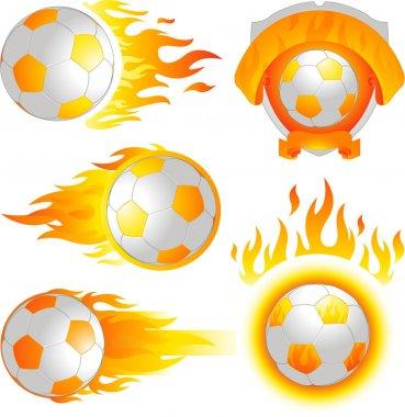 Fire soccer ball emblem