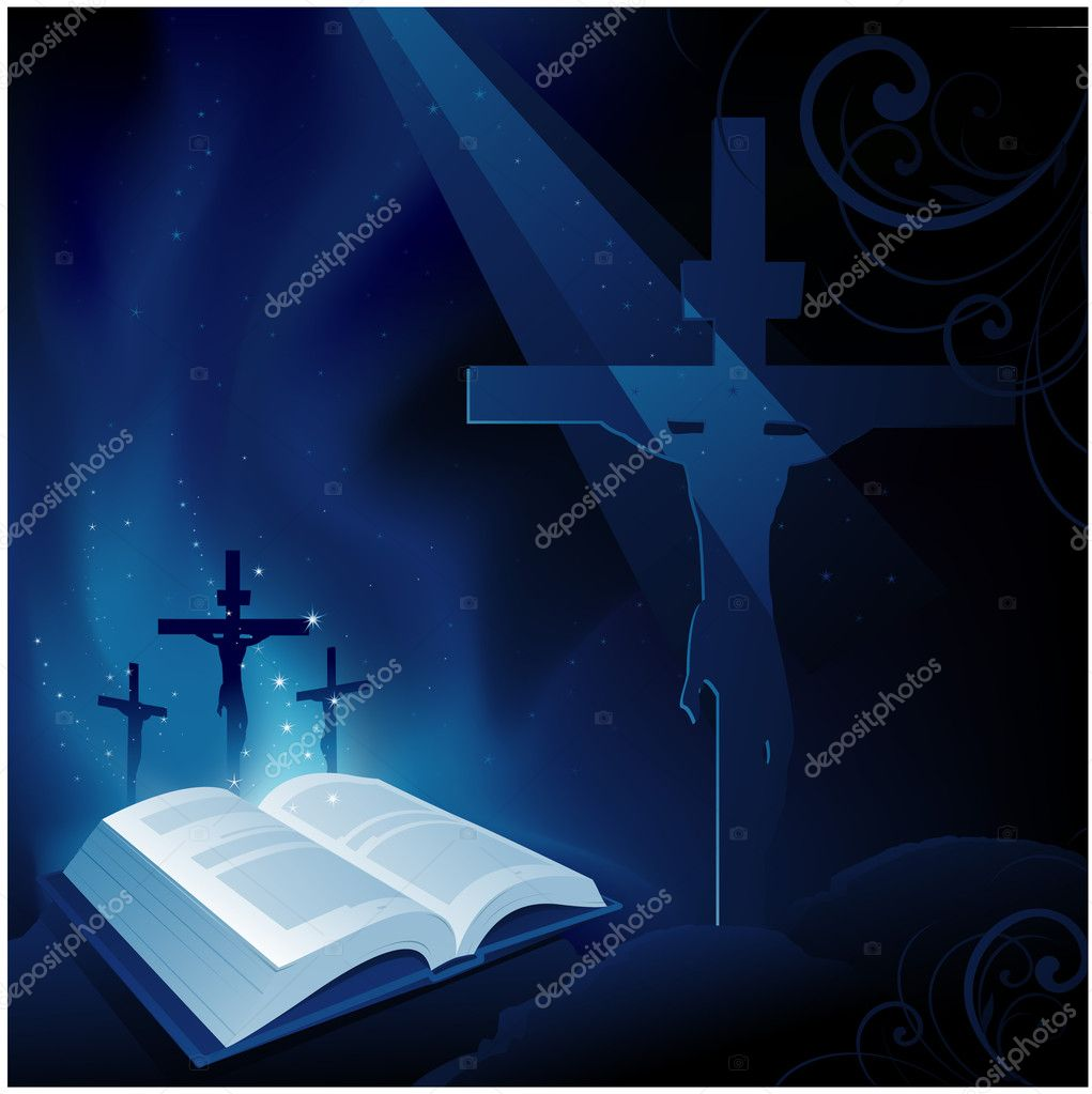 Bible religion background stock vector