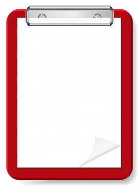 Vector blank clipboard for your design stock vector