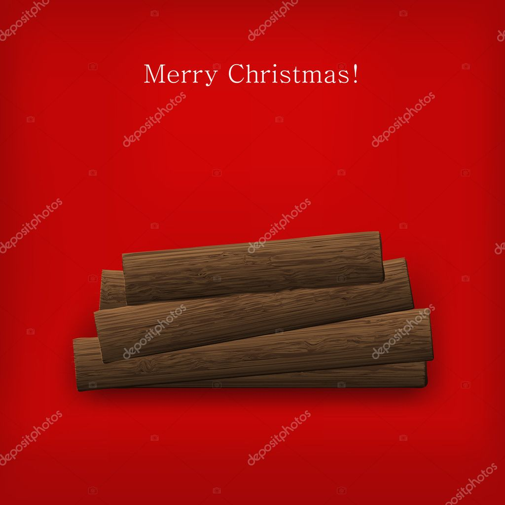 Vector Christmas firewood for your design