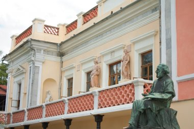 House - museum and statue of great russian painter Aivazovsky in