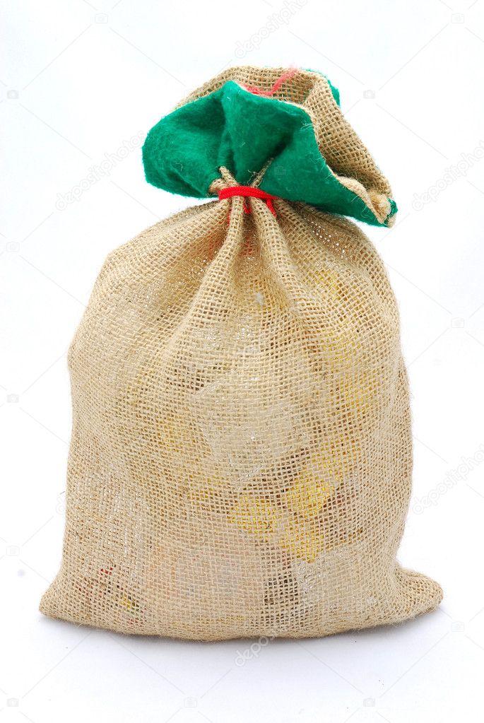 Geschenke in Sackleinen sack — Stockfoto © AnkevanWyk #6819708
