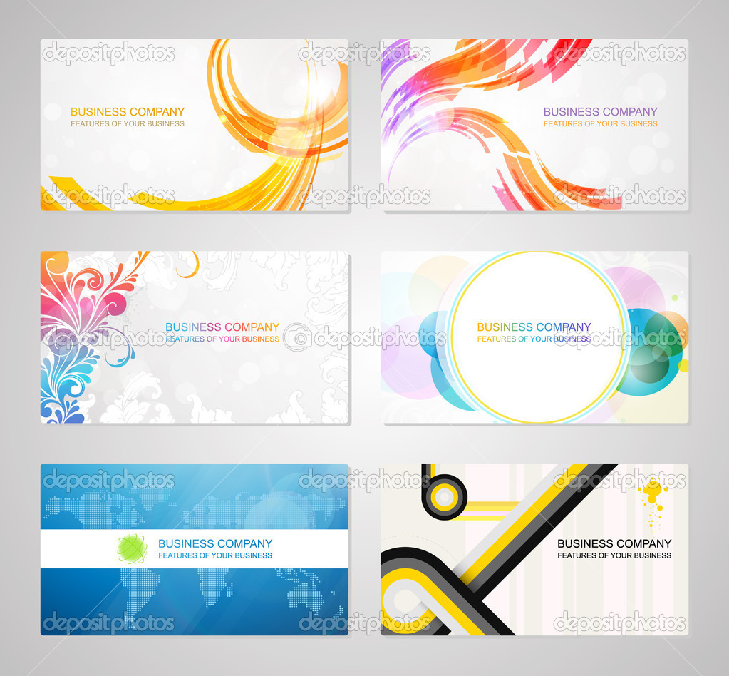 Business visiting card collection — Stock Vector © cozm #7366889