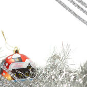 vánoční dekorace izolované na bílém pozadí