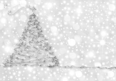 Christmas Cards abstract silver fir