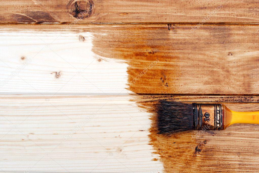 Colori Vernici Legno : Vernice giallo vernice perline in legno di colore marrone scuro