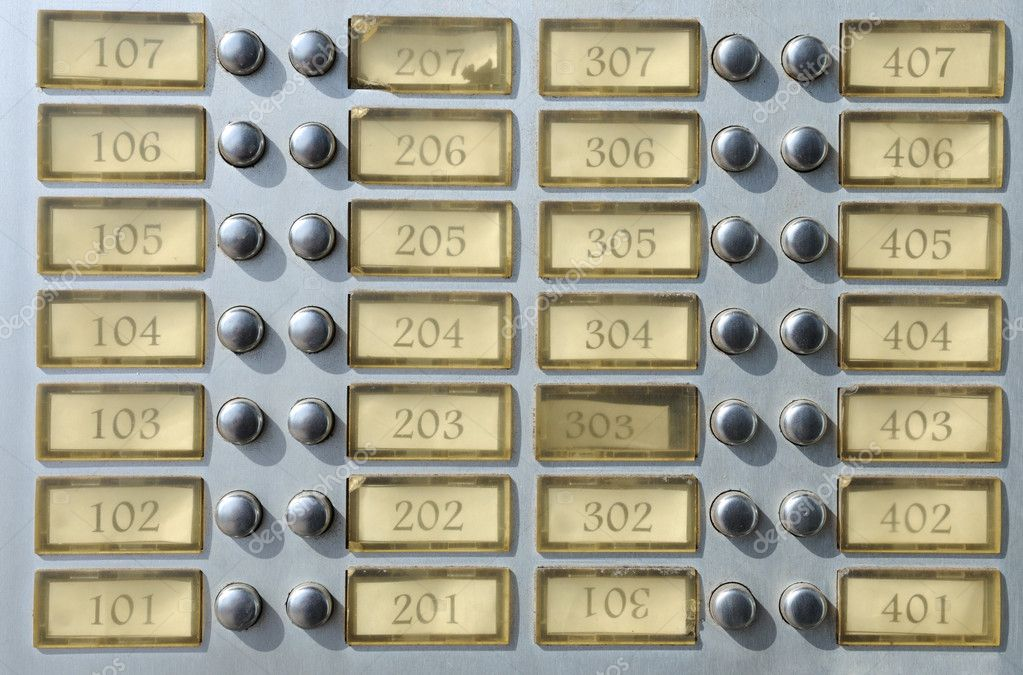 Apartment House Doorbell Plate With Numbers U2014 Photo By Philipus
